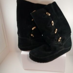 Y - Not Suede leather boots with fleece lining
